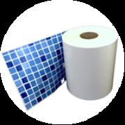 Cenefa mosaico azul