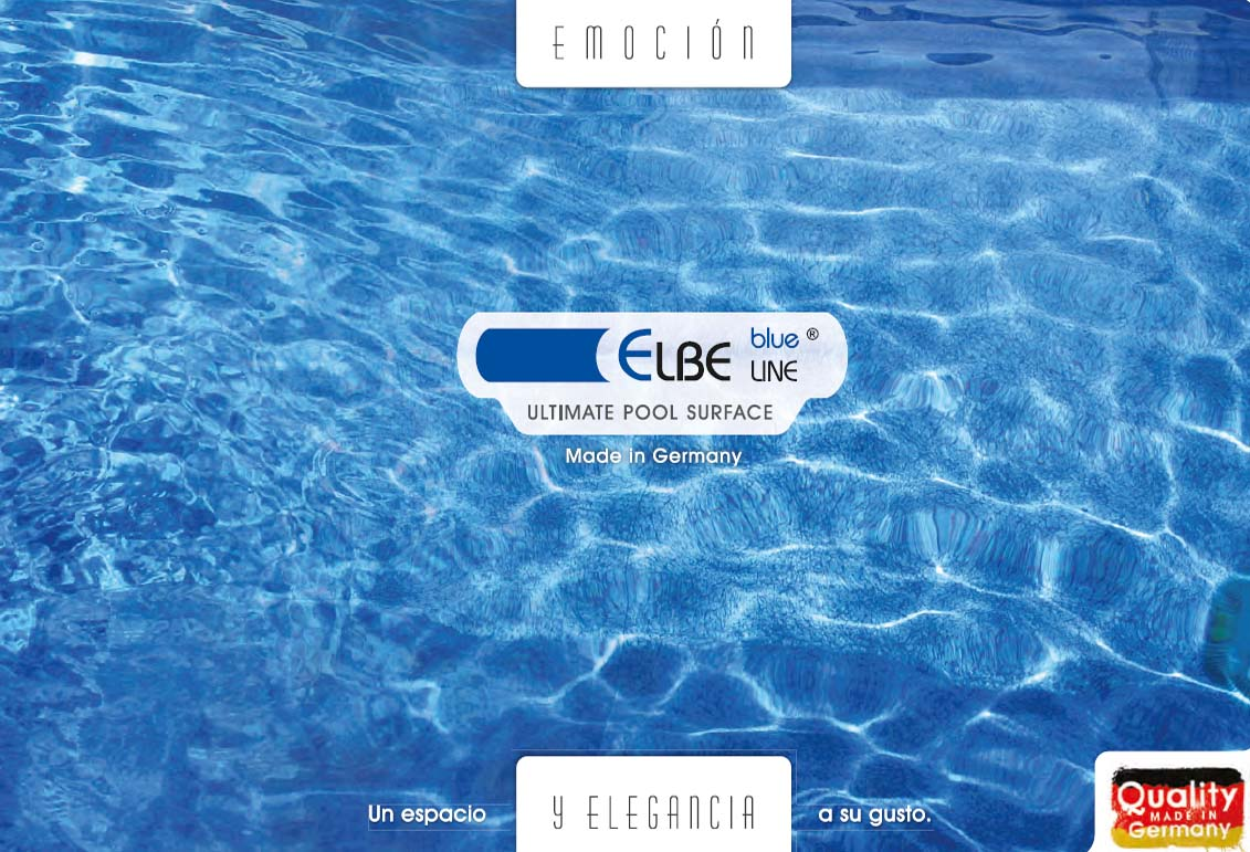 catálogo Elbe Blue Line para impermeabilización de piscinas